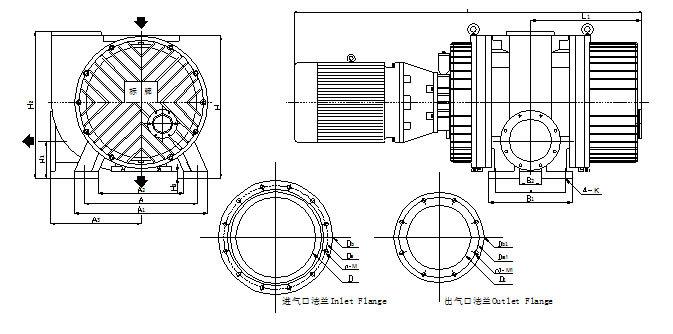 China Zjy-1200a Roots Vacuum Pump For Sale/vacuum Coating Machine