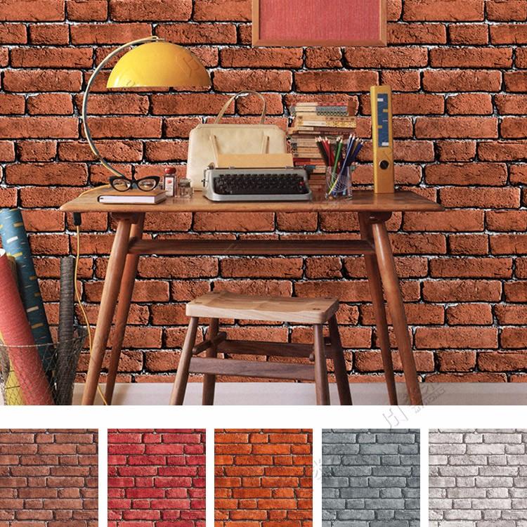 3d Wallpaper For Interior Decoration Imitation Pas Cher Vinyle Briques Pierre Papier Peint