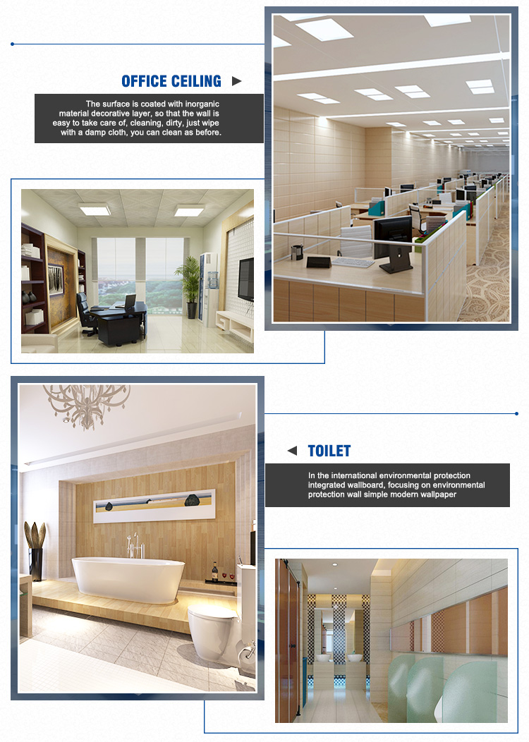 Plafond Western Union Pvc Building Material Interior Decoration Wood Design Plafond Pvc