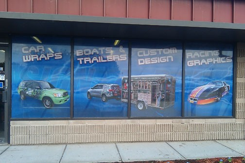See Through Window Graphics Film Perforated Window Sticker