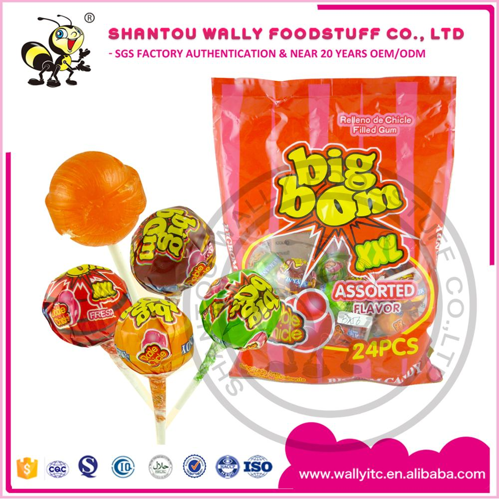 Big Xxl Xxl Big Lollipops Filled Gum Big Bom Candy Bubble Gum Lollipop Buy Bubble Gum Lollipop Big Lollipops Big Bom Lollipop Candy Product On Alibaba