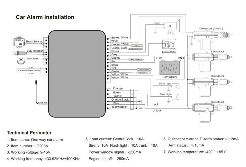 alarm lock wiring diagram
