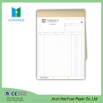 Numbered Cash Invoice Book Printing