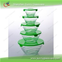 Glass Mixing Bowl Set With Colorful Lids Manufacturers ...