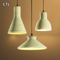 European Modern Decorative Cement Pendant Lights Table ...