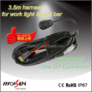 One Dt 2 Pin Wiring Harness 12v Dc On/off Control Relay Switch,Led