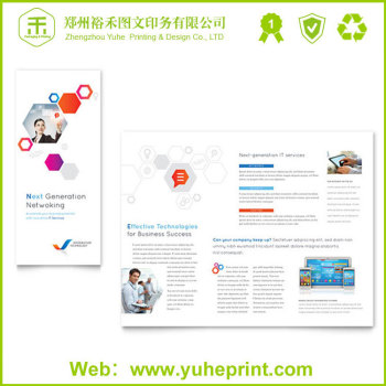 High Quality Advertising Tri-folder Printing Art Paper Sports