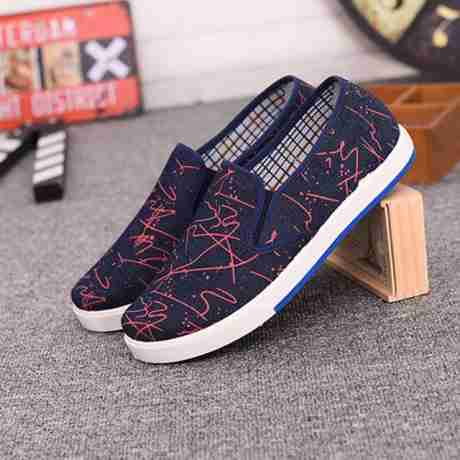 Source 2017camouflage slip on canvas casual shoes men made in China