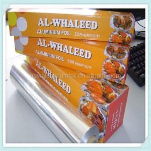 disposable foil paper household aluminum foil for kitchen food packaging