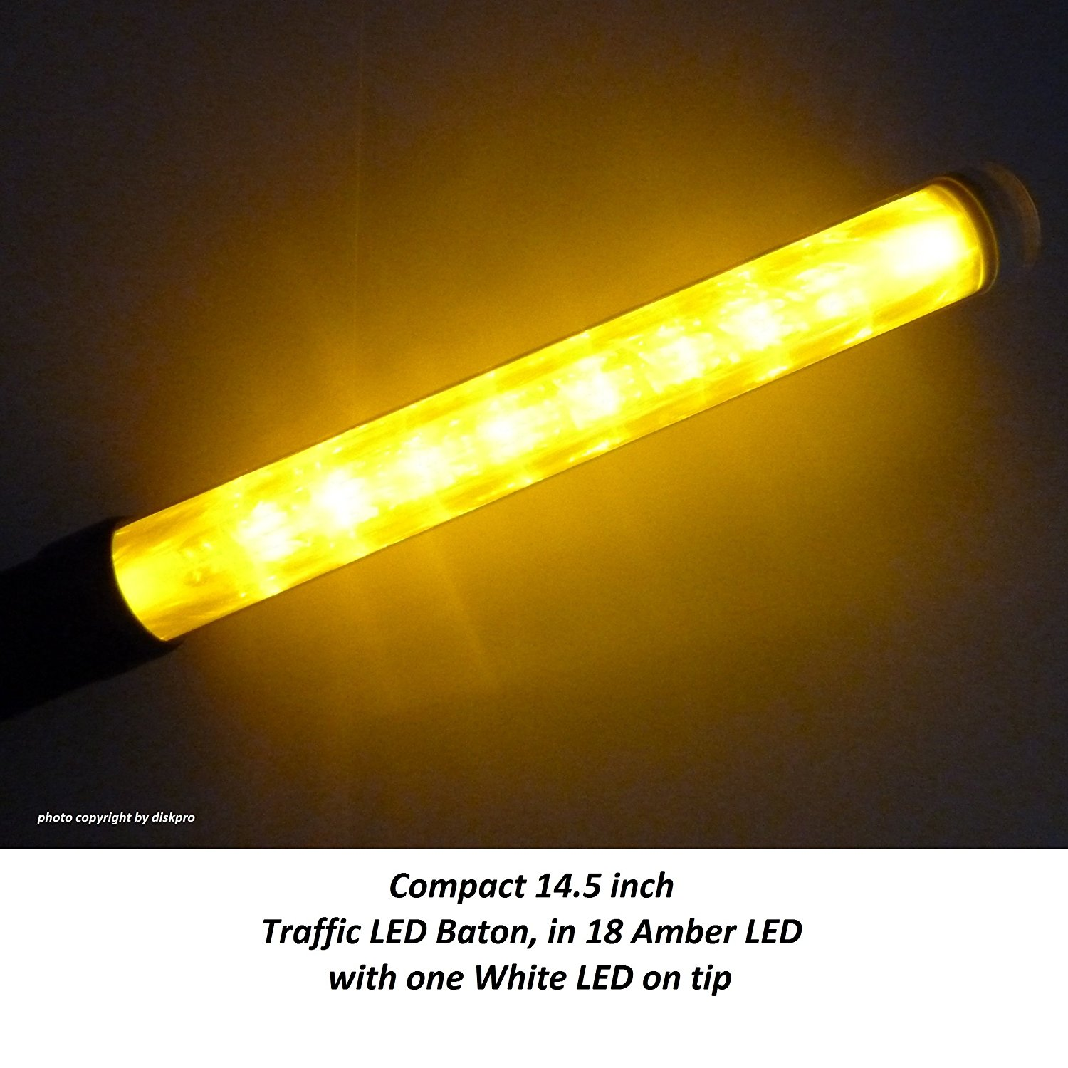 Wand Led Buy Imported By Diskpro 14 5 Inch Amber Led Traffic Safety Wand
