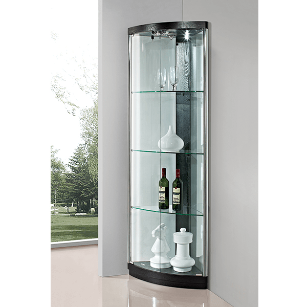 Meuble Tv Portes Coulissantes Glass Curio Cabinet Led Light,modern Led Cabinet - Buy Led