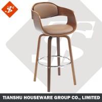 Back Support Armless Bar Stools Bar Chairs Wood No Wheels ...