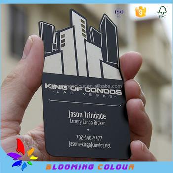 Qingdao Manufacturer Of Metal Business Card/irregular Shape Black