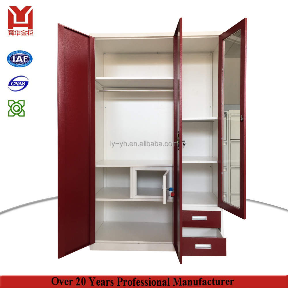 Wardrobe Furniture Steel Or Iron Wardrobe Designg Godrej Almirah Designs With Price Bedroom Furniture 3 Door Steel Metal Wardrobe With Mirror And S Buy Iron