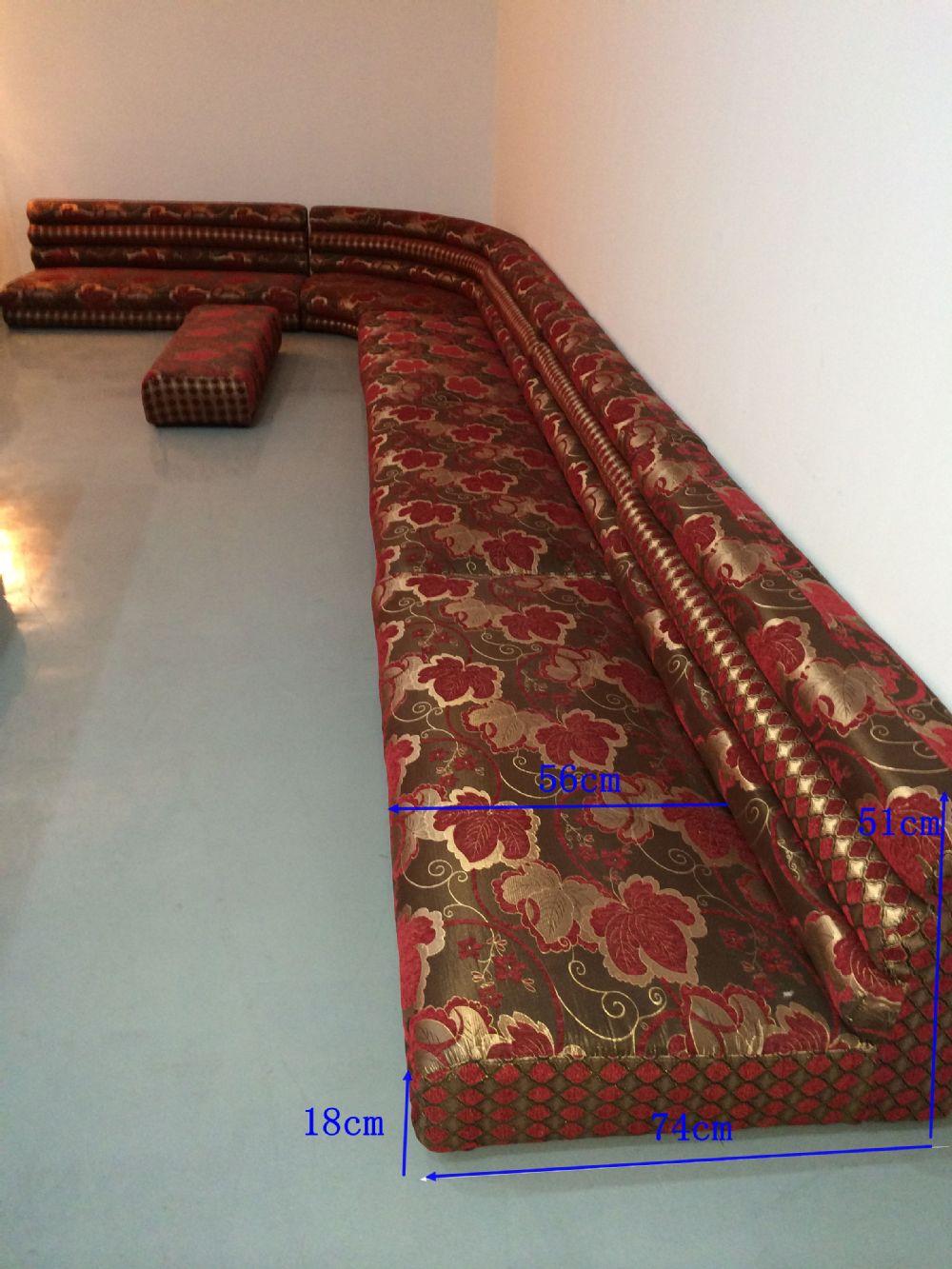 Fabric Moroccan Indian Floor Sofa For Salefabric L Shape