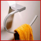 Hotel home bathroom accessories wall mounted brass chrome finished towel holder crochet towel ring