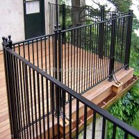 Top Sale Steel/wrought Iron Balcony Railing Designs