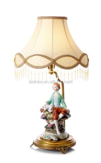 Ornamental Ceramic Figurine Base Table Lamp , European ...