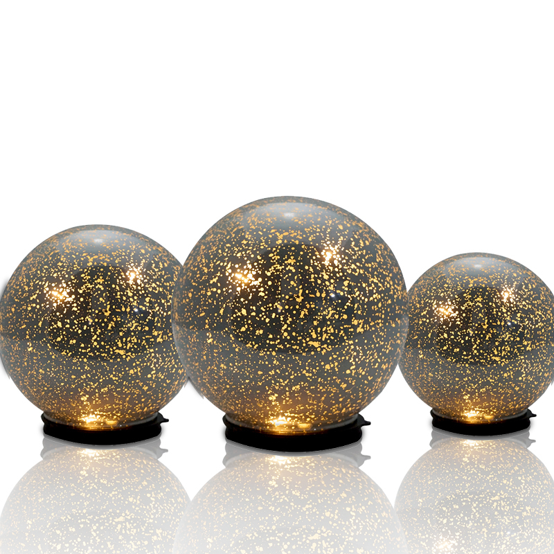 Glow Verlichting Led Mercury Lights Up Hollow Glass Orb/ Glass Ball/ Glass