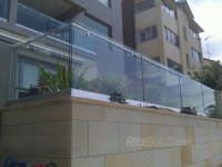 Wholesale China Exterior Frameless Glass Balcony Railing ...