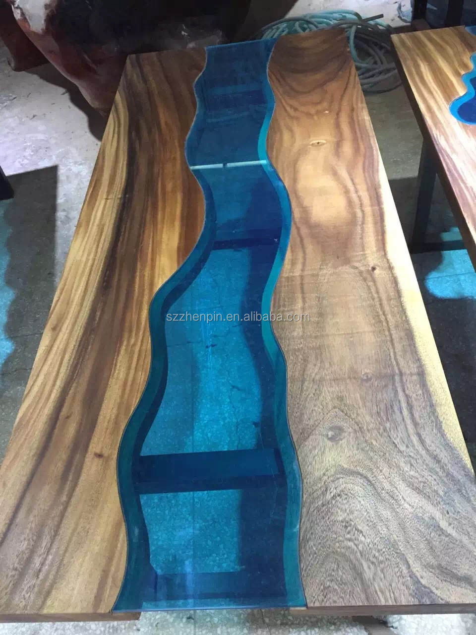 Wood Table Top Prefinished Solid Slab Wood Table Top Live Edge Slab Table