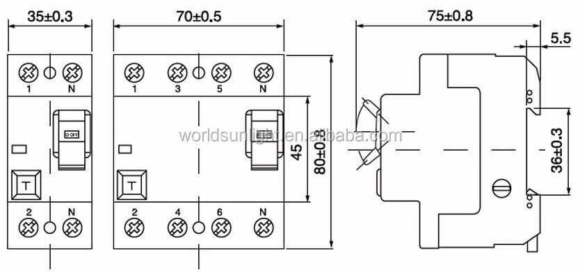 2 pole rcd wiring diagram