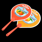 plastic shaped hand fans custom printed promotion