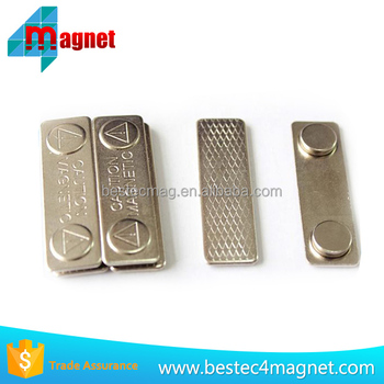 High Quality Metal Name Badges Magnet Caution Magnetic Holder For