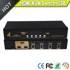 Vision new arrival 4ports USB HDMI KVM Switch in metal box