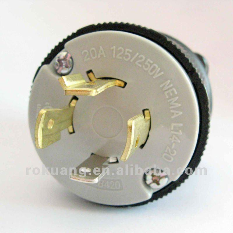 Nema Locking Plug L14-20 Twist Lock Plug