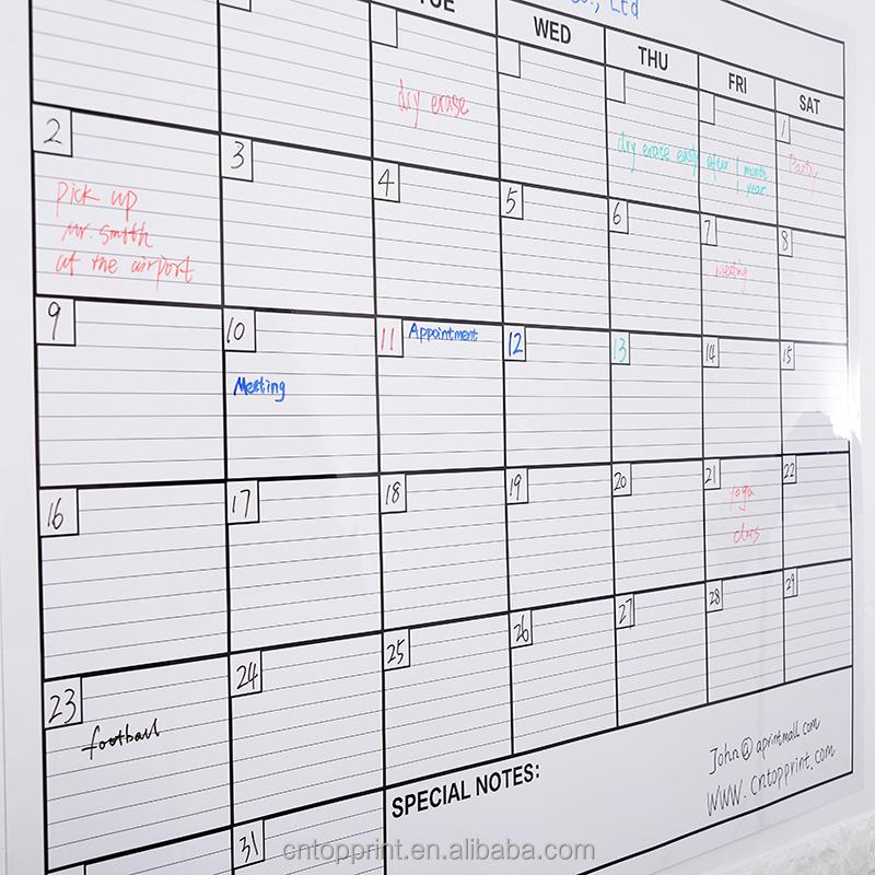 Customised Jumbo Family Deco Big Perpetual Write Wall Calendar With