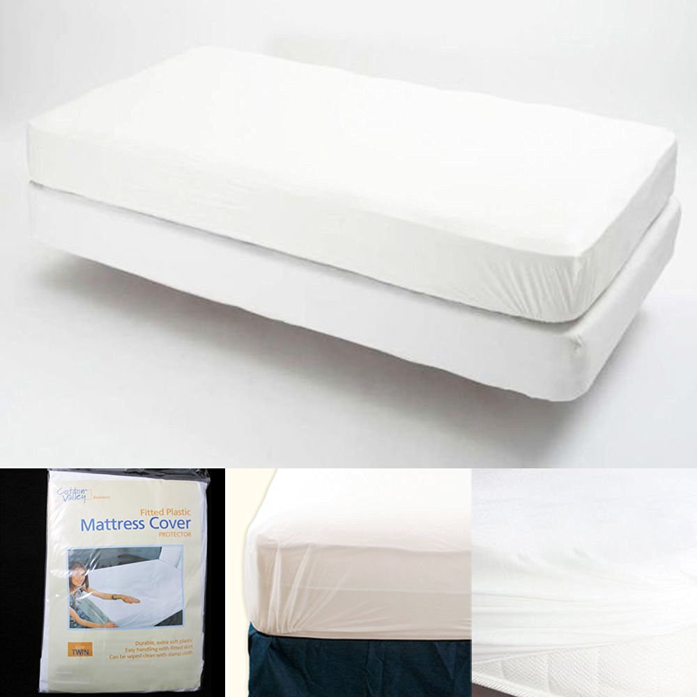 Bed Bugs Mattress Cover Best Mattress Protector Fitted Mattress Cover Vinyl Waterproof Bed Bug Allergy Protector New Twin