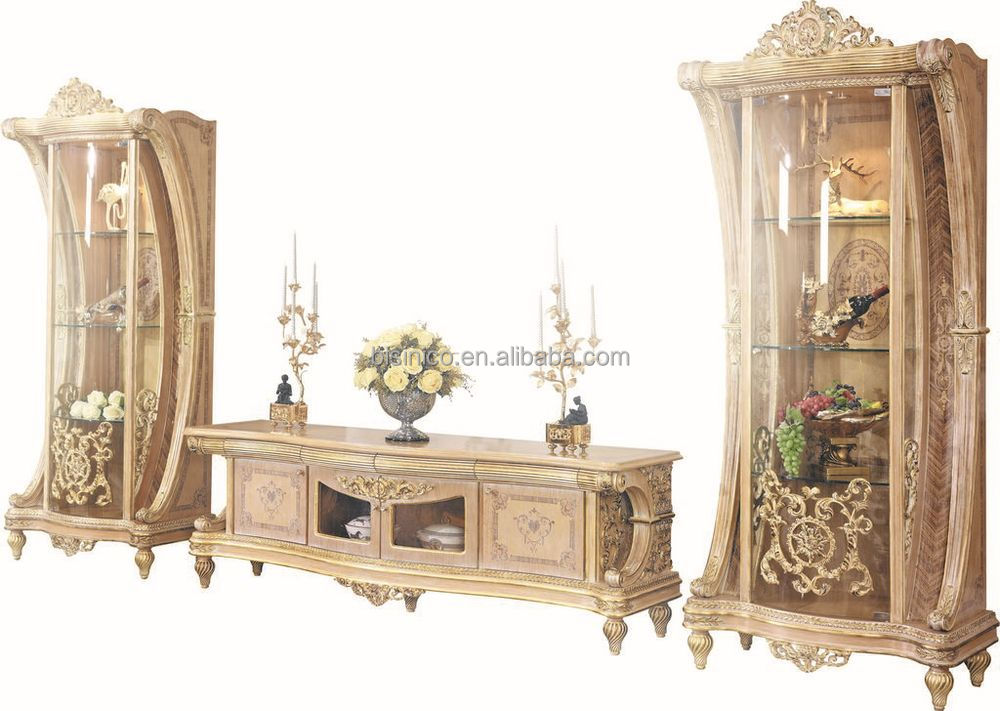 French New Baroque Classic Living Room Display Cabinet\/european - living room display cabinets