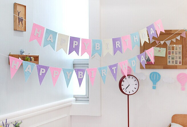 Personalized Name Paper Happy Birthday Banner With Balloons Party