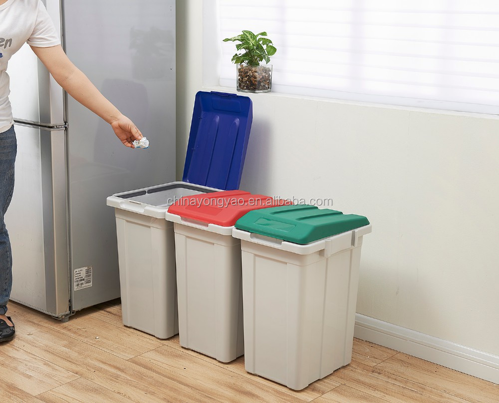 Garbage Bin 33 Liter Household Garbage Bin For Sorting Litter Waste Recycling Can Buy Household Garbage Bin Sorting Litter Waste Recycling Can Product On