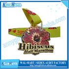 Cheap custom soft enamel custom finisher arts and crafts medals no minimum order