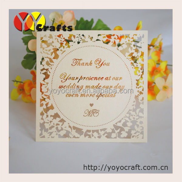 Lace Embossed Wedding Invitation Paper A4 Wedding Invitation Card