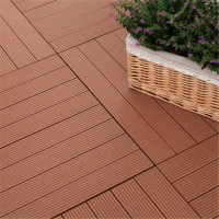 3x3 Frstech Wood Plastic Composite Wood Mosaic Tile