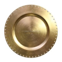 Wedding Tableware Gold Silver Charger Plates Plastic 13 ...