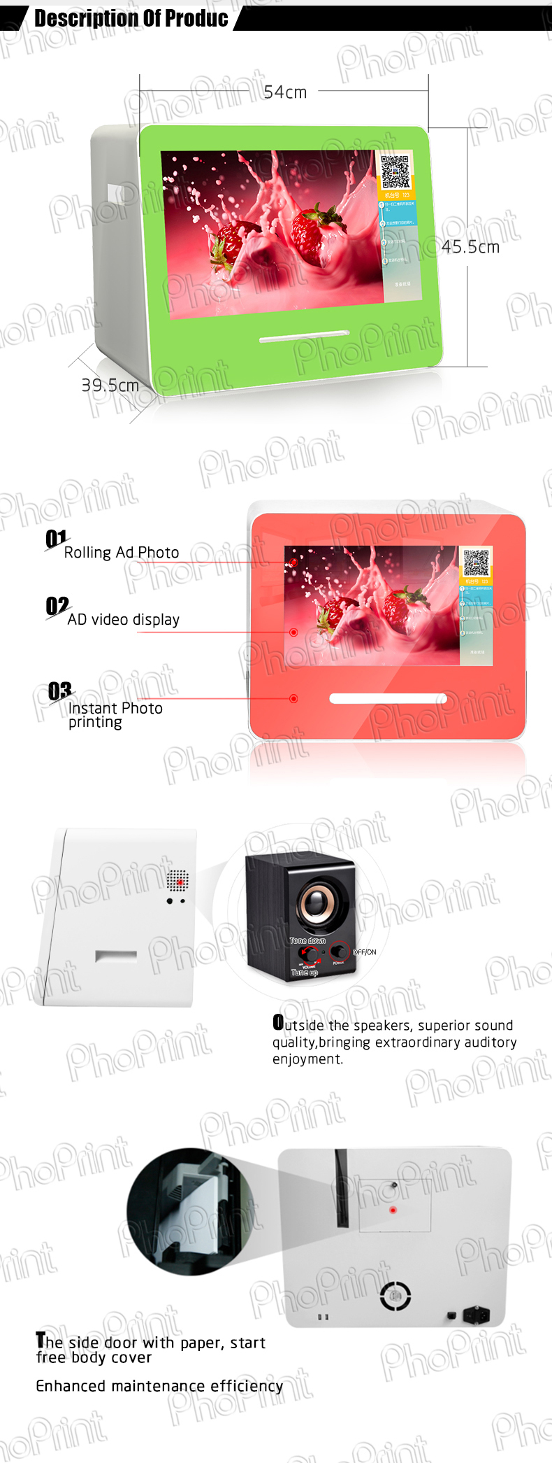 Oem Advertising Equipment Diy Photo Template Photo Booth Custom Made Case For Insta Gram Print Boft Wechat Photo Machine Factory Buy Oem Advertising Equipment Wechat Photo Machine Factory Custom Made Case For Insta Gram Print