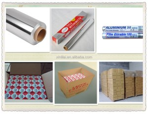 Paper backed foil for food packing/colored food packing aluminium foil