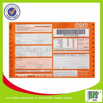Courier Consignment Note Printing Manufacturer - Buy Courier