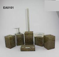 Ea0101 Leoparden bad-accessoires mit seifenspender und ...