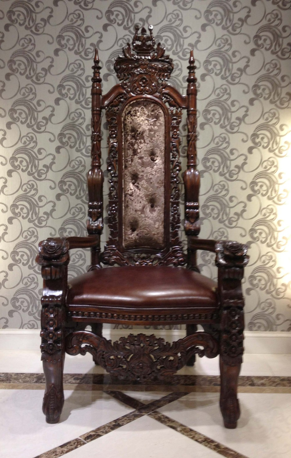 High Back Antique Sofa American Style Furniture Sofa Chair Antique Luxury Real Leather Throne Sofa Classic Hand Carved Wood Chair Bf01 Xy1008 Buy Classic Wood Frame