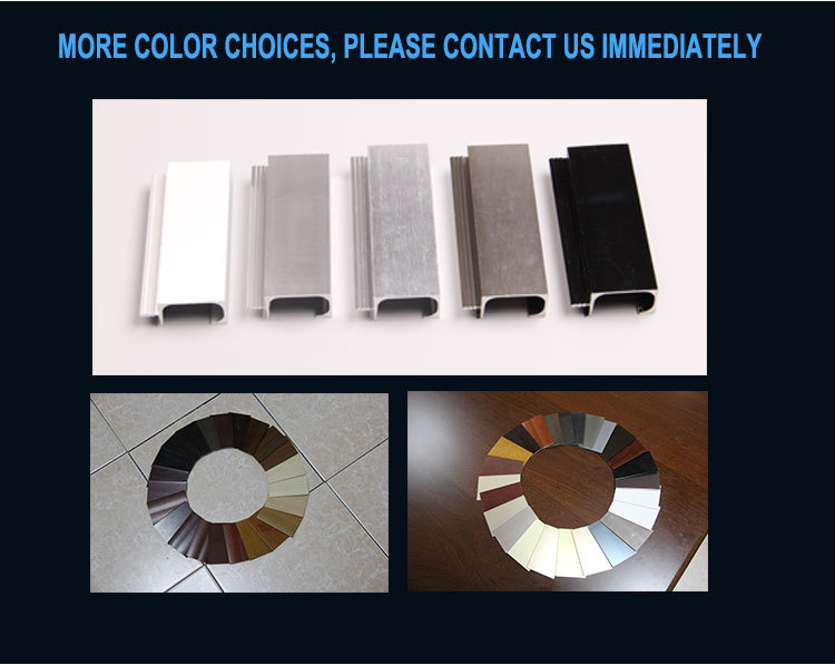 Kitchen Cabinet Door Protection Film Anodize Ss Brush Polished Modular Aluminum Profile For