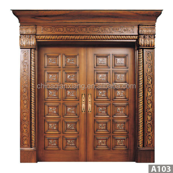 Latest Design Modern Carved Exterior Solid Teak Wood Main