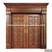 Latest Design Modern Carved Exterior Solid Teak Wood Main ...