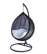 Rattan Hanging Egg Swing Chairs Outdoor Gazebo Swing ...