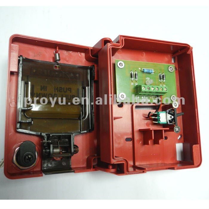 2 Wire Manual Call Point With Pull Down Plate Without Breaking Glass