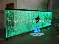 Dancing Water Bubble Wall Panel With Led Light For Hotel
